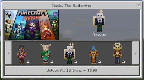 minecraft pocket edition magic  gathering skin pack