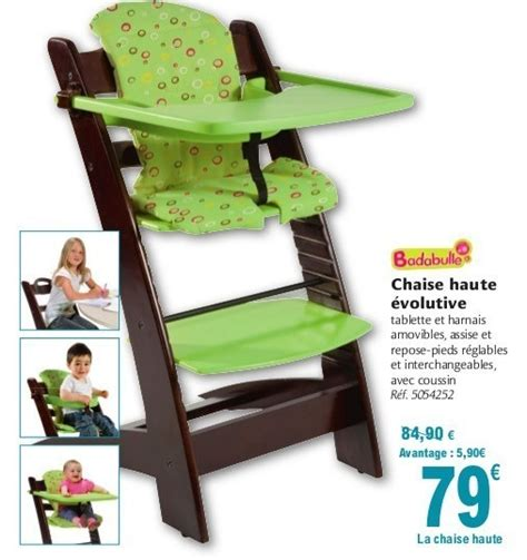 Chaise Haute Bois Evolutive Carrefour by Carrefour Promotion Chaise Haute 233 Volutive Badabulle