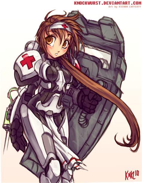 Terran Medic Girl By Knkl On Deviantart