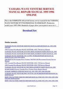 Yamaha Wave Venture Service Manual Repair Manual 1995 1996