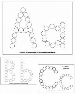 Alphabet do a dot worksheets for Dots alphabet letter