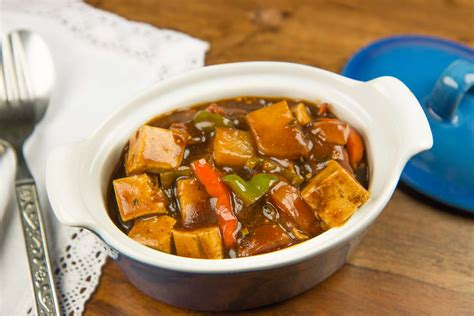 cuisine tofu kung pao tofu with vegetables recipe by archana 39 s kitchen