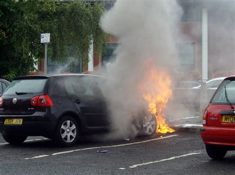 Blazing Car Drama At Preston Ringway