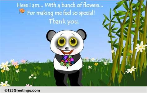 making  feel special  flowers ecards greeting cards