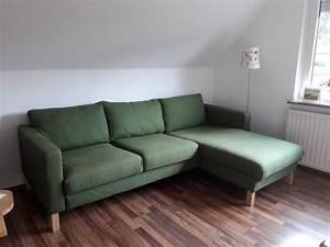 Polster Für Couch : ikea karlstad sofa 3 sitzer mit recami re in gr n couch ~ Michelbontemps.com Haus und Dekorationen