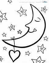 Coloring Moon Stars Pages Night Sun Star Sleeping Sky Drawing Crescent Printable Colouring Getcolorings Getdrawings Clipartmag Nightmare sketch template