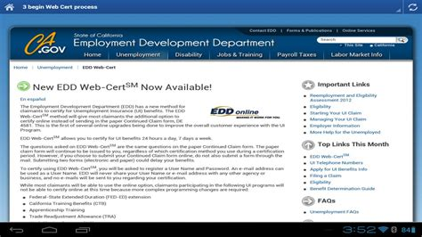 edd resume claiming benefits edd help unemployment ca android apps on play