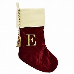 harvey lewistm letter quotequot monogram christmas stocking made With christmas stocking letter e