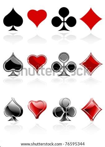 set card symbols   treatments stock vector