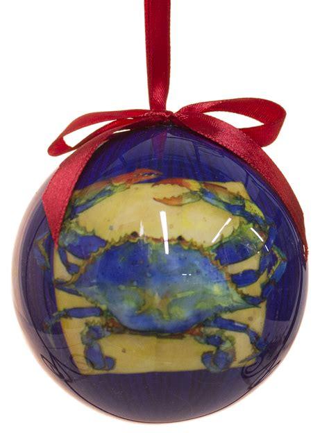 blue crab high gloss resin christmas ornament ebay