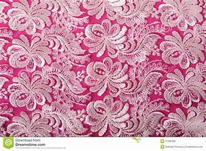 Hot Pink Lace Wallpaper