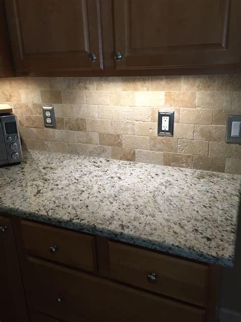 kitchen backsplash travertine tumbled travertine backsplash for the home