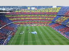 CAMP NOU HIMNO BARCELONA VS REAL MADRID 21042012 YouTube