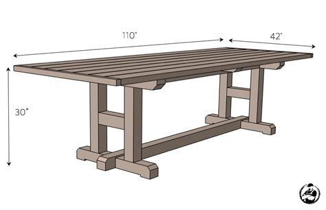 diy dining table plans h leg dining table rogue engineer