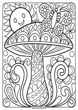 Coloring Mushroom Printable Adult Sheet Books Inspirations Adults Awesome Brothers Mario Grown Ups Tweet Whatsapp Email Drive2vote sketch template