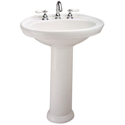 Menards Mansfield Pedestal Sink by Mansfield Waverly Pedestal Bathroom Sink 4 Quot Faucet Center