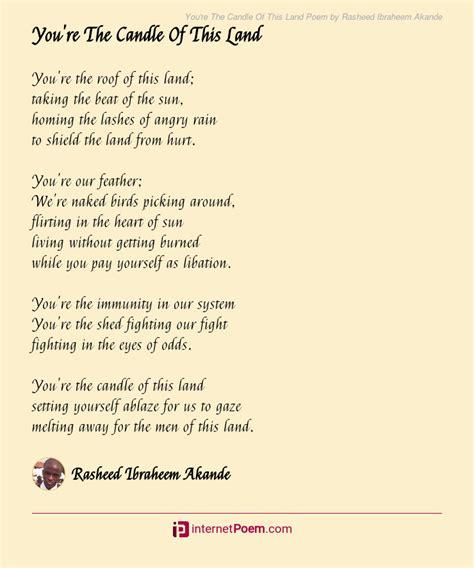 youre  candle   land poem  rasheed ibraheem akande