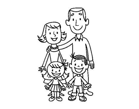 disegno  una famiglia da colorare acolorecom