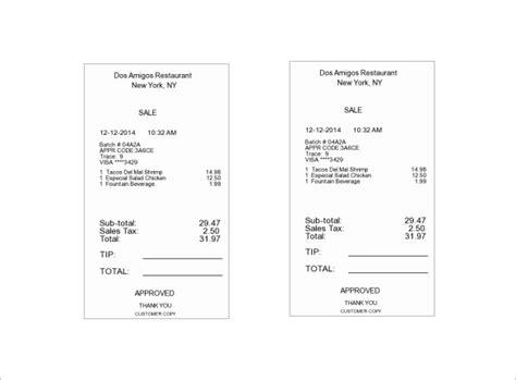 restaurant receipt template restaurant receipt template 13 free word excel pdf format free premium templates