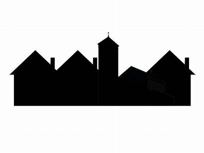 Town Silhouette Clipart Getdrawings Simple Cityscape Vector