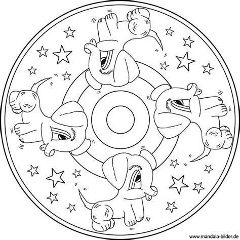 kleine suesse hunde mandala malvorlage zum ausdrucken