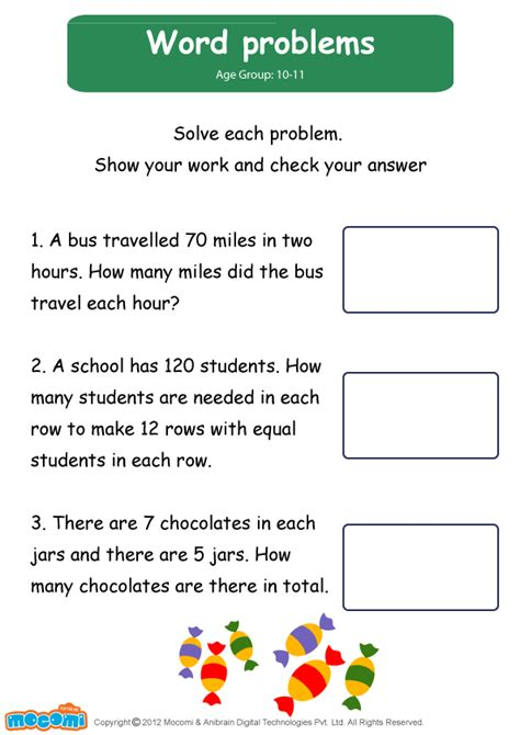 word problems worksheet mocomi  kids mocomi