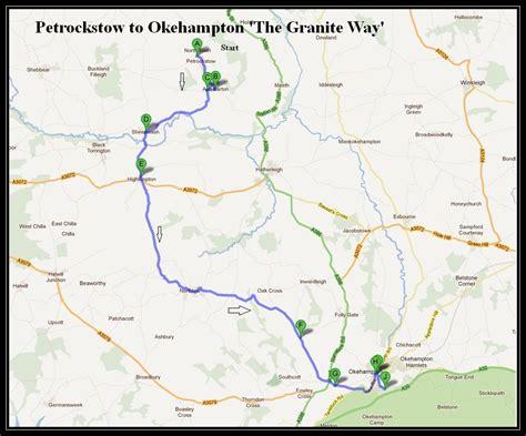petrockstow to okehton cycle routes uk
