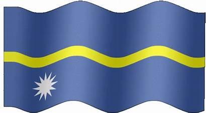 Flag Nauru Animated Flags Animation Very Waving