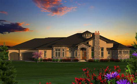 luxury  tuscan ranch house plan ah st floor master suite butler walk  pantry cad