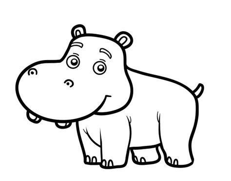 dibujo para colorear hipopotamo Buscar con Google