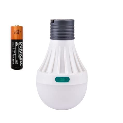 emergency light led bulb powered by aa battery led light