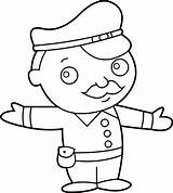 Policeman Police Officer Clipart Clip Little Coloring Outline Drawing Cop Cliparts Transparent Emotion Line Library Getdrawings Webstockreview Sweetclipart Station sketch template