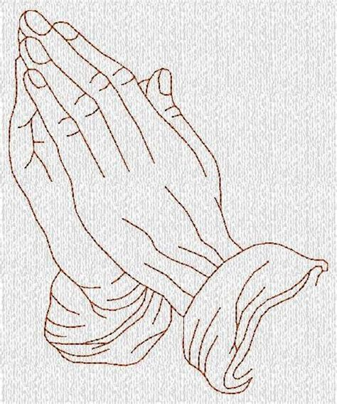 items similar  instant  praying hands redwork