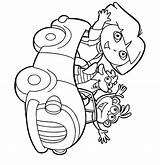 Dora Coloring Explorer Pages Printable Sheets Colouring Print Printables sketch template