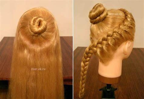 diy elegant hairstyle  braids  curls