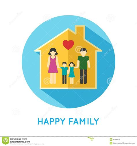 simple 2 house plans family icon home stock vector image 42436015
