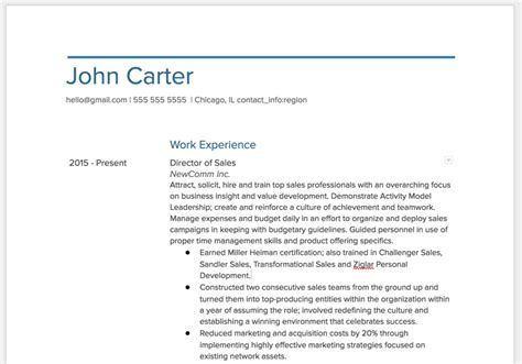 Visual Resume Template Doc by Exporting Your Visualcv To Docs Word Visualcv