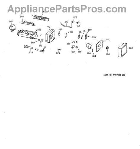 parts  ge ziswdca icemaker wrx parts appliancepartsproscom