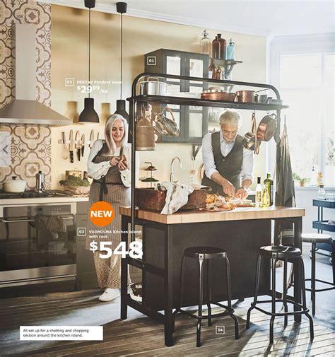 Ikea Pot Rack by Ikea Vadholma Kitchen Island With Pot Rack It Lovely