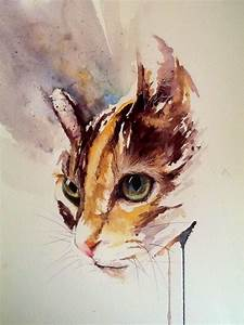 Malen Mit Wasserfarben : die besten 25 katze malen ideen auf pinterest katzen zeichnungen katze zeichen und katze basteln ~ Orissabook.com Haus und Dekorationen