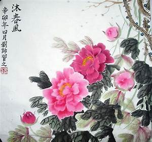 Peony Original Chinese Painting Art Work : Chinese ...