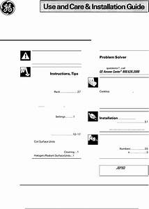 Ge Range Jbp80 User Guide