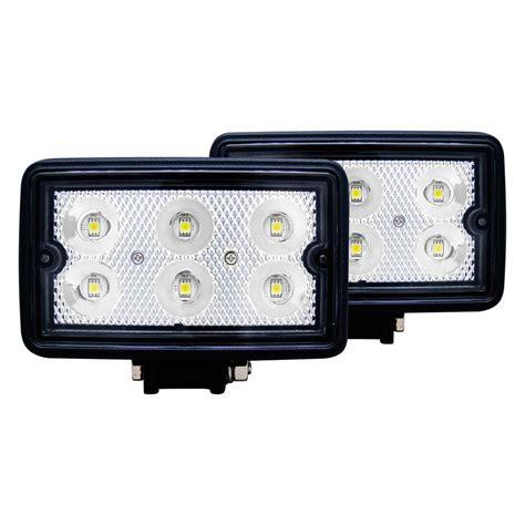 fog lights led anzo 174 881001 3 5 quot 10w rectangular flood beam led fog lights