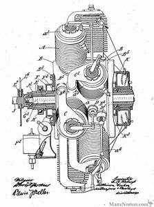 Redrup 1911 Radial Engine Patent Dwg
