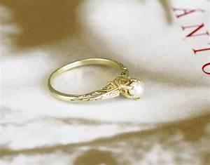 Vintage Pearl Engagement Rings Edwardian Pearl Engagement ...