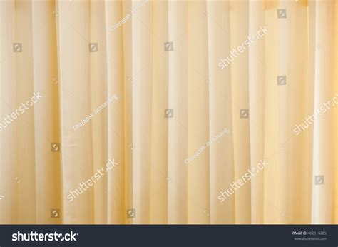 Creamcolored Cloth Beige Curtain Fabric Texture Stock