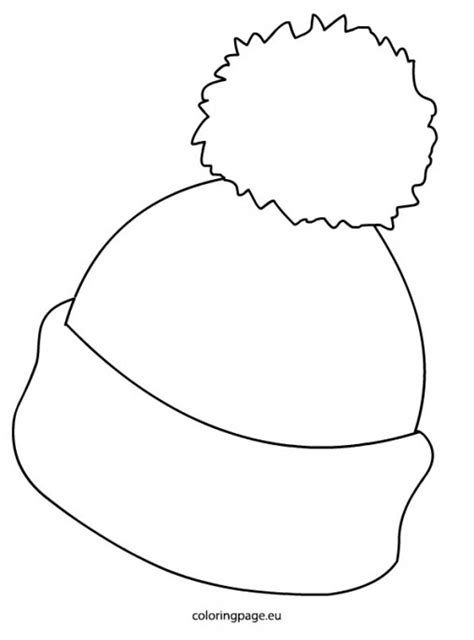winter hat template hat clipart 69