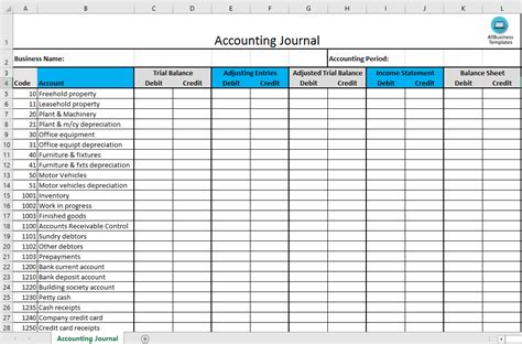 journal entry template excel free accounting journal excel template templates at allbusinesstemplates