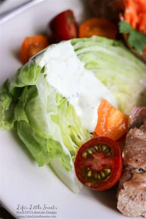 marinated pork roast  wedge salad  baked sweet