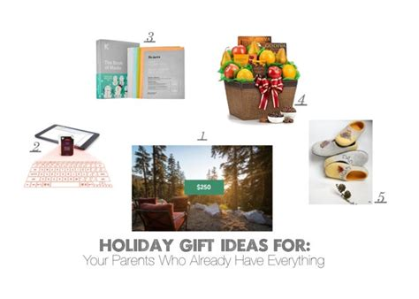 holiday gift ideas for your parents who already have
